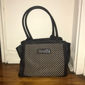Calvin Klein black and white tote